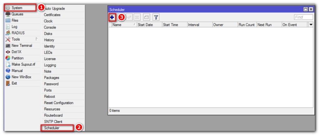 Настройка планировщика для автоматической отправки файлов.